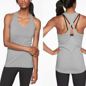 ATHLETA Limitless Keyhole Tank Grey XXS